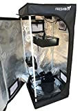 "Grow Tent Kit (41-½"" x 18'' x 18'') with Observation Windows and Floor Tray for Indoor Plant Growing"