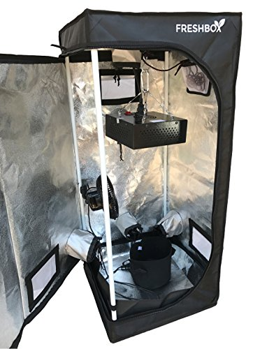 "Grow Tent Kit (41-½"" x 18'' x 18'') with Observation Windows and Floor Tray for Indoor Plant Growing by Fresh Box"