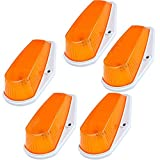 1996 f250 cab lights - 5pcs Amber Lens Cab Roof Marker Lights, KOMAS Roof Top Lamp Clearance Running Light Replacement + T10 Set for Truck SUV 1980-1997 Ford F1-150 F-250 F-350 F-450 F-550 Super Duty (Amber Cover + Base)