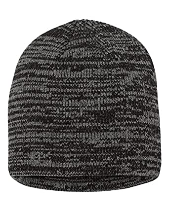 3540b6d3545 SNAP SKULL Knitted Marled Beanie Cap Winter Unisex Thick Hat Color ...