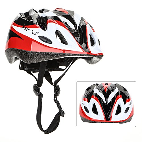 Yahill Multi-Use Safety Protective Gear Child/Teenager/Adult Helmet, or Children/Kids/Adults Knee Elbow Wrist Pads, for Cycling Roller Skating and Other Extreme Sports(Children Helmet-Black&Red)