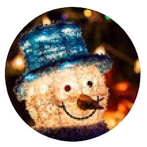 alfombrilla de ratón Navidad - ronda - 20cm