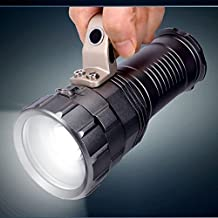 WindFire Waterproof Zoomable Flood/ Spotlight CREE XML-T6 L2 LED 2000 Lumen Flashlight Torch Hand-held Searchlights Portable Search Light, Rechargeable 18650 Battery Powered (Not included)