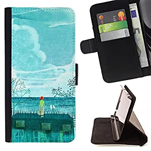 Jordan Colourful Shop - painting whale environment global For Apple Iphone 5 / 5S - Leather Case Absorci???¡¯???€????€????????&