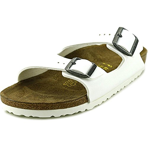 Birkenstock Women's Arizona  Birko-Flo White Birko-flor Sandals - 38 N EU (US Men EU's 5-5.5, US Women EU's 7-7.5)