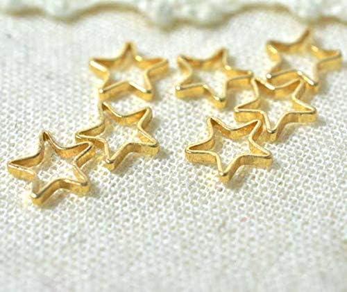 星の金具 10個 ハンドメイド資材 オープンスターパーツ アクセサリーやレジンに最適 布 生地