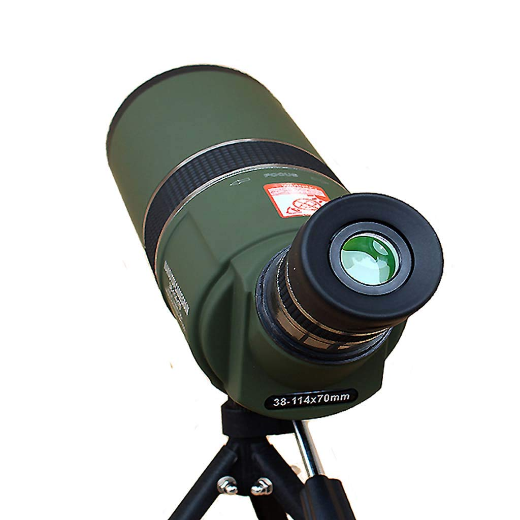 Jzmae New Powerful 38-114x70 Maksutov-Cassegrain Telescope Long Focal Length Telescope with Tripod Space Observation Tool by Jzmae
