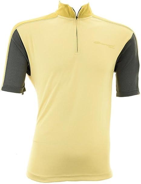 BRIKO camiseta de ciclismo hombre gira corta gris amarillento ...