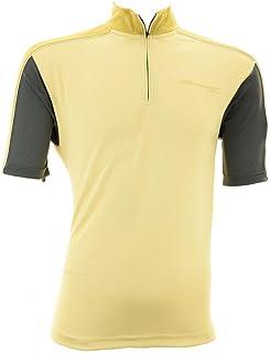 Briko T-Shirt Ciclismo Spinning Uomo Zip Corta Momentum Beige Grigio 010406-JH - Taglia M