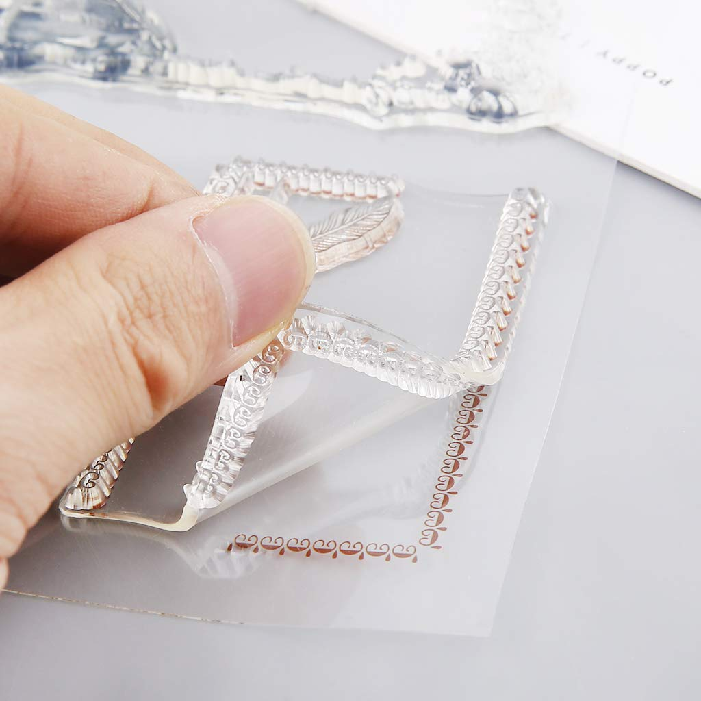 Plume Manyo DIY Transparent Clear Stamp Tampons Silicone Scrapbooking