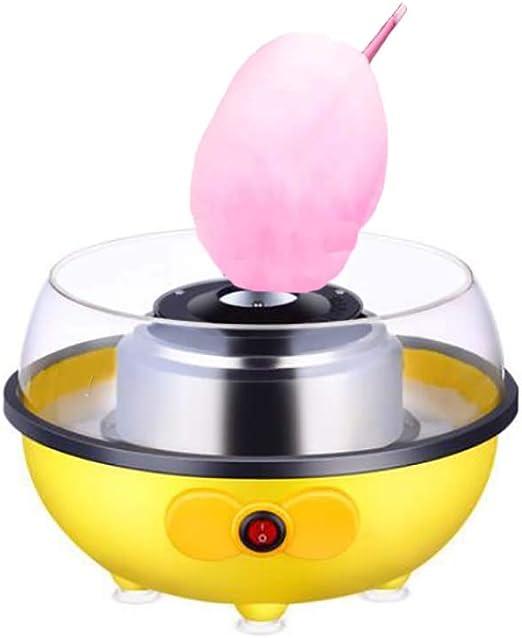 Máquina Eléctrica para hacer Algodón de Azúcar, Cotton Candy Machine para Fiestas Cumpleaños,10 palitos Madera y Cuchara dosificadora, 500 Vatios: Amazon.es: Hogar