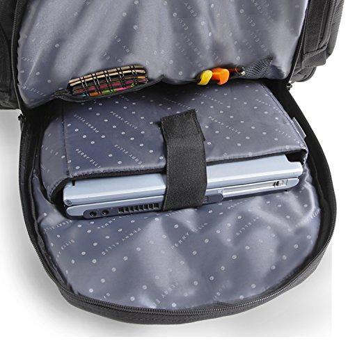51ft6jpjhTL - Perry Ellis Men's 9-Pocket Professional Laptop Backpack-P350 Business Backpack, Black, One Size