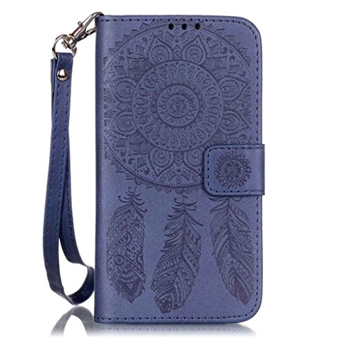AENMIL Campanula Flowers Embossed Smartphone Case for Samsung Galaxy S7 Edge, 5.5