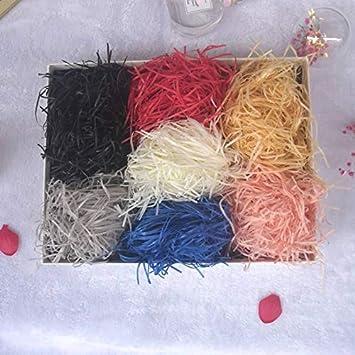 100 G Caja De Regalo Decorativo Papel Destrozado Cesta Lafite Caja De Regalo Llena De Papel De Seda De Embalaje Caja De Regalo De Relleno (Color : Champagne): Amazon.es: Electrónica