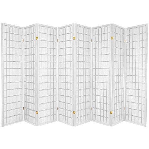 8 Panel Room Divider Square Design White (8 Panel)