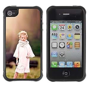 Pulsar Defender Series Tpu silicona Carcasa Funda Case para Apple iPhone 4 / iPhone 4S , country girl devochka ferma
