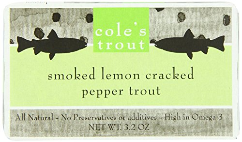 Cole's Smoked Trout, Lemon Cracked Pepper, 3.2 Ounce (Pack of 2)