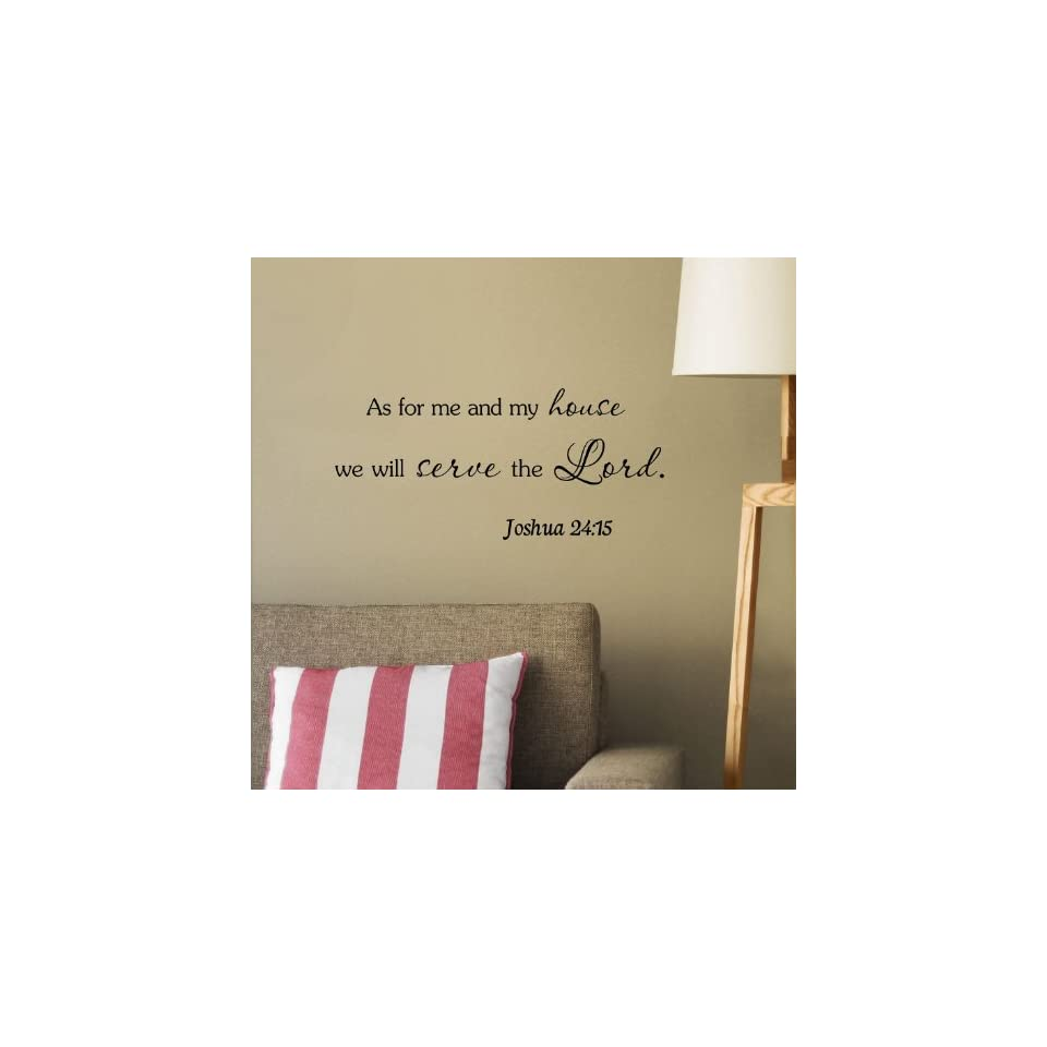 #3 As for me and my house, we will serve the Lord Vinyl wall art Inspirational quotes and saying home decor decal sticker steamss