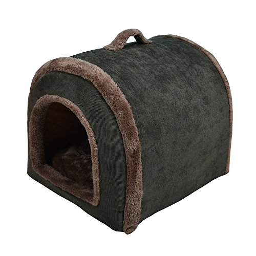 Nadalan Cave Shape Soft Pet Tent/Room/House Bed Kennel Hut for Dog/Puppy/Cats/Kitty