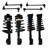Detroit Axle - 4-Cylinder Only - All Front & Rear Driver & Passenger Side Complete Strut & Spring Assembly with (4) Sway Bar End Links - [1997-2001 Toyota Camry 2.2L Only]