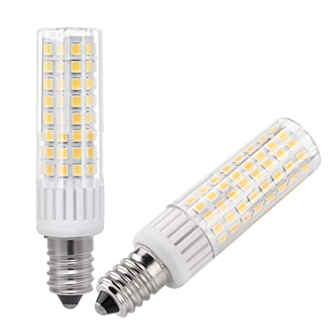 E14 Led Light Bulbs 75w 100w Halogen Bulbs Replacement 7 5w 930lm Mini Candelabra E14 Base Jd T3 T4 Indoor Decorative Lighting Warm White 3000k