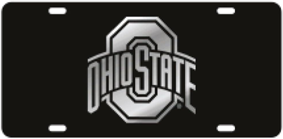 Mirror Logo Craftique Ohio State Black Laser Cut License Plate