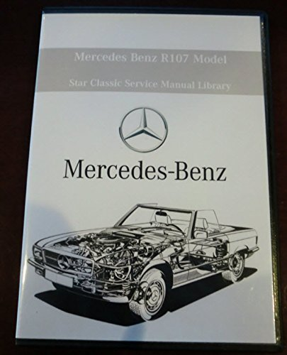 1972-1989 Mercedes Benz R107 SL Class Factory Service Repair & Work Shop Manual - ALL MODELS (Window 560sl)
