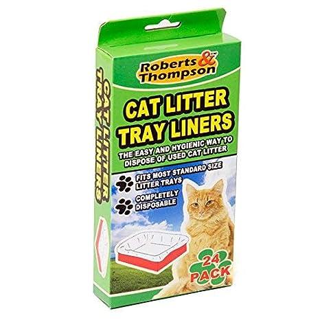 Pack 24 bolsas para bandeja gato: Amazon.es: Productos para ...