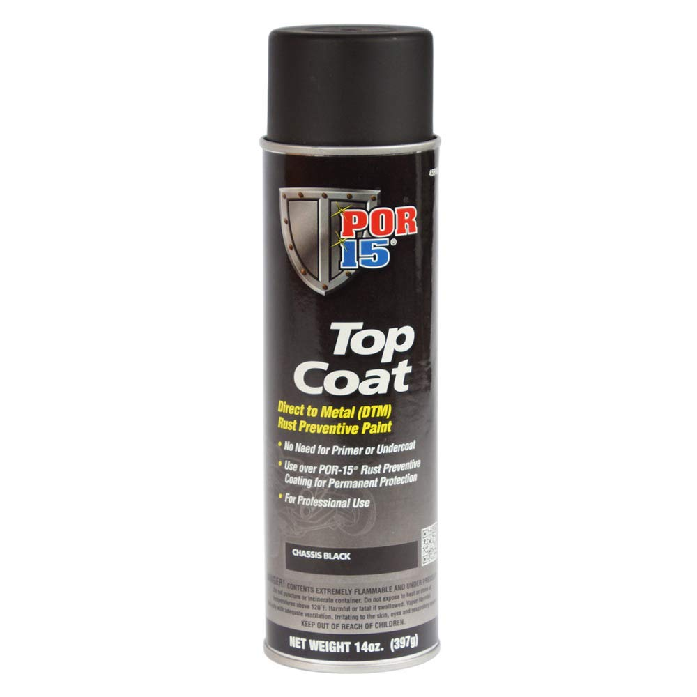 Por-15 45918 Top Coat Chassis Black Spray Paint