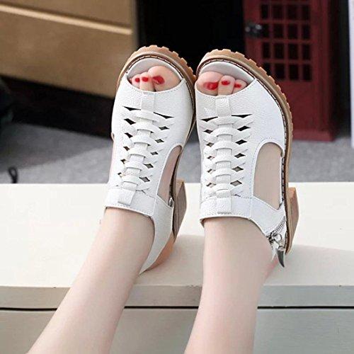 De Été Mode Sandales Chaussures Fheaven Toe Solide Femmes Peep Robe qvt11H