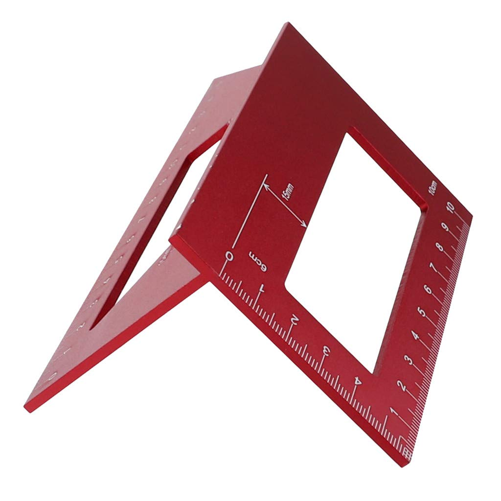 NEW 3D Multifunctional Square Ruler Portable Woodworking Scriber Mitre Angle 45/90 Degree Angle Measuring Carpentry Marking Tools