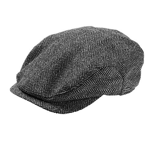 Wigens Jacob - Ivy Style Wool Herringbone Cap-DarkGreyHerringbone-63