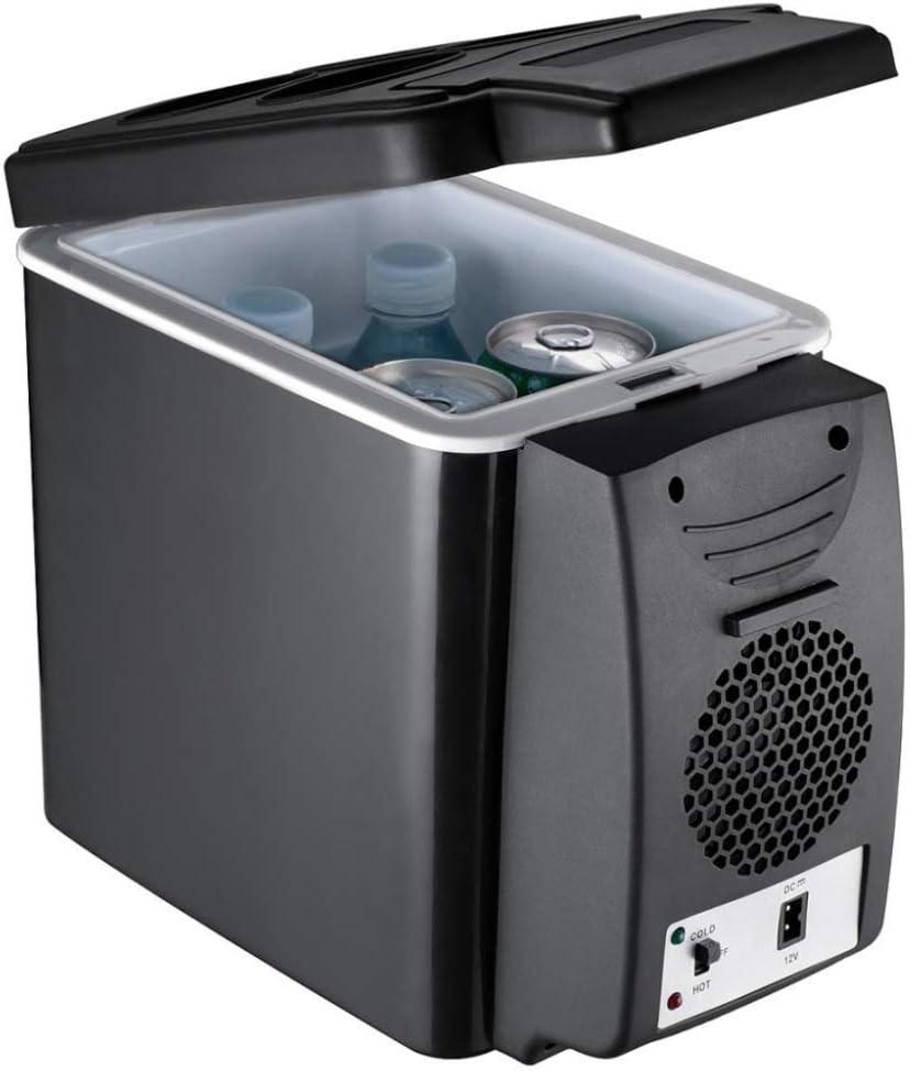 Wixm Refrigerador el/éctrico Personal port/átil de 6L de Capacidad 12V 24V Refrigerador para autom/óvil con Ahorro de energ/ía Refrigerador dom/éstico Sin Ruido Refrigeraci/ón r/ápida Congelador Duradero