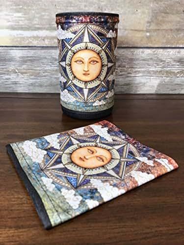 Cover for Amazon Echo (2nd Generation). Digitally printed fabric. Sun Pranayama by Dan Morris.