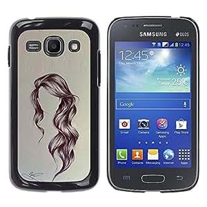 Ihec Tech Peinado Arte ondulada Retrato Anónimo Belleza / Funda Case back Cover guard / for Samsung Galaxy Ace 3