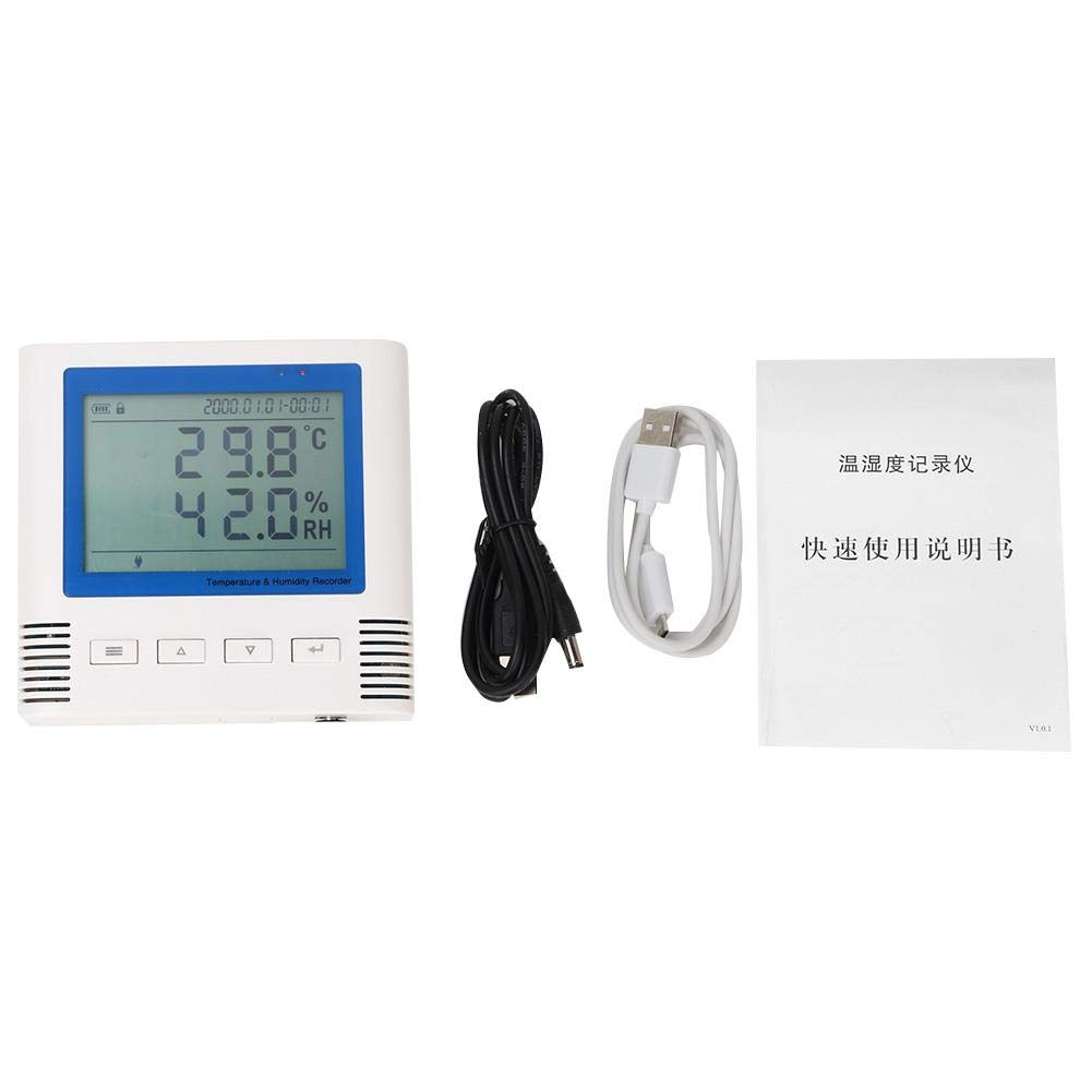 Temperature Recorder Thermometers, LCD Display Humidity Recorder Usb Large Screen Wide Viewing Angle by Taidda