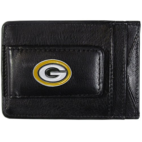 NFL Green Bay Packers Leather Money Clip Cardholder