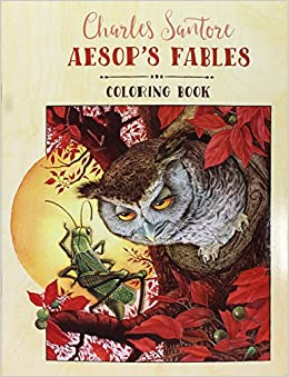 Charles Santore Aesops Fables Coloring Book 0717195246860 Amazon Books