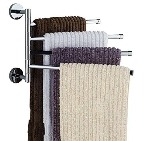 Ioven Handtuchhalter,Edelstahl glänzend - 4 bewegliche