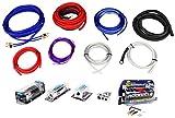Rockville RDA0+4K 0+4 Gauge Dual Amplifier Installation Kit+2 Farad Capacitor