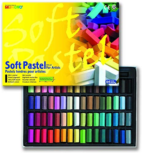 Mungyo Soft Pastel 64 Color Set Square Chalk (US English Version)