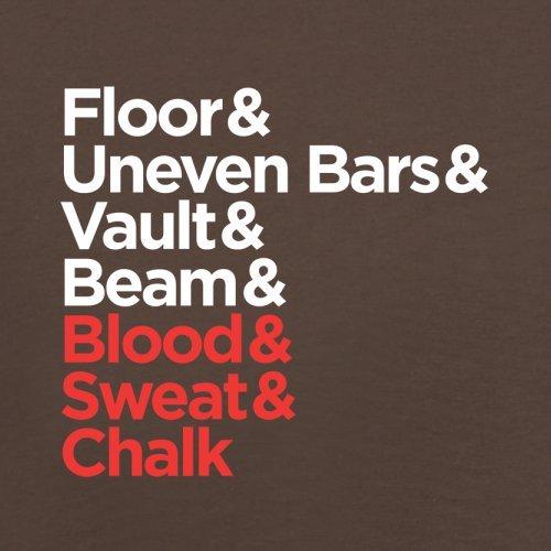 Sangre Sudor y tiza–para hombre T-Shirt–13colores Chocolate