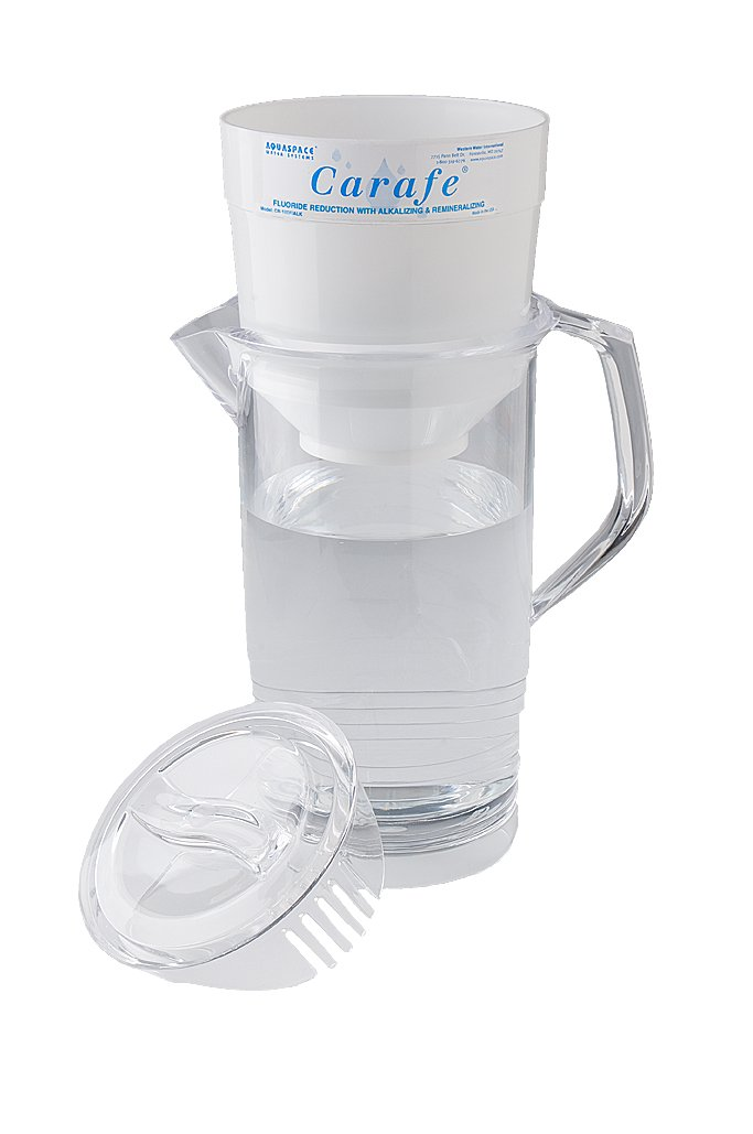 Aquaspace Carafe w/Fluoride Reduction & Alkaline Mineral Water Filter Pitcher