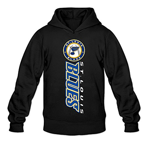 DVPHQ Men's Best St Louis Logo Blues Hoodie Size XL Black