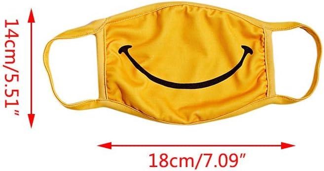 gelb staubdicht None Brand Unisex Happy Smile Druck