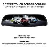 ILIHOME Mirror Dash Cam, 7 inch Touch Screen