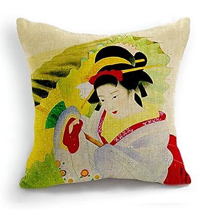 Diseño Retro en una notificación japoneses Geisha de manga corta para mujer paraguas diseño con texto