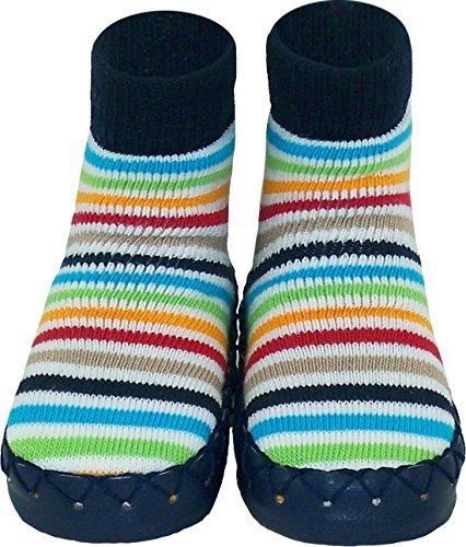 Konfetti Azul Marino Brillante Rayas Pantuflas Calcetines Sueco Mocasin: Amazon.es: Zapatos y complementos