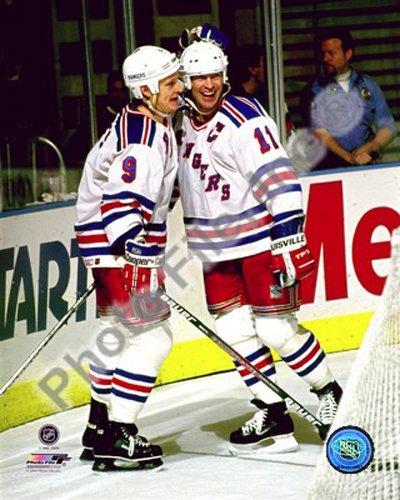 Mark Messier & Adam Graves New York Rangers NHL Action Photo 8x10 #5