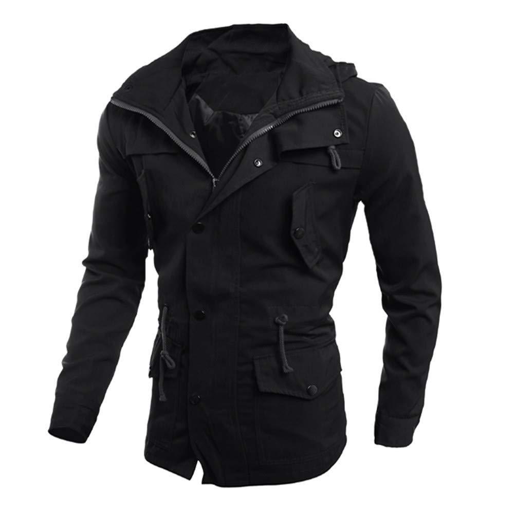 Mens Zip Pocket Polid Silim Casual Jacket Coat Outwear Overcoat Outwear Tops